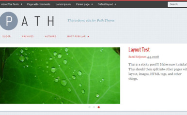New WordPress Theme: Path