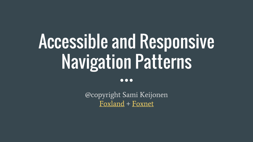Accessible-Navigation-Patterns