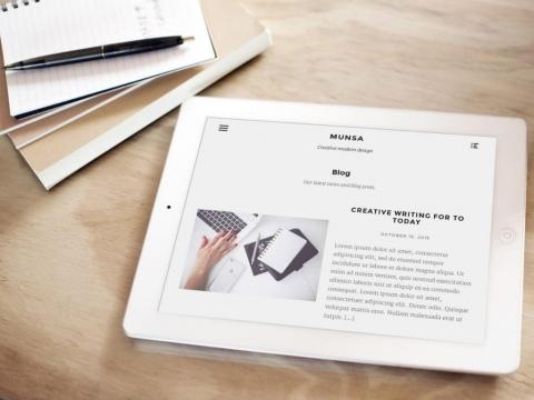 Miltä Munsa-teema näyttää iPadilla