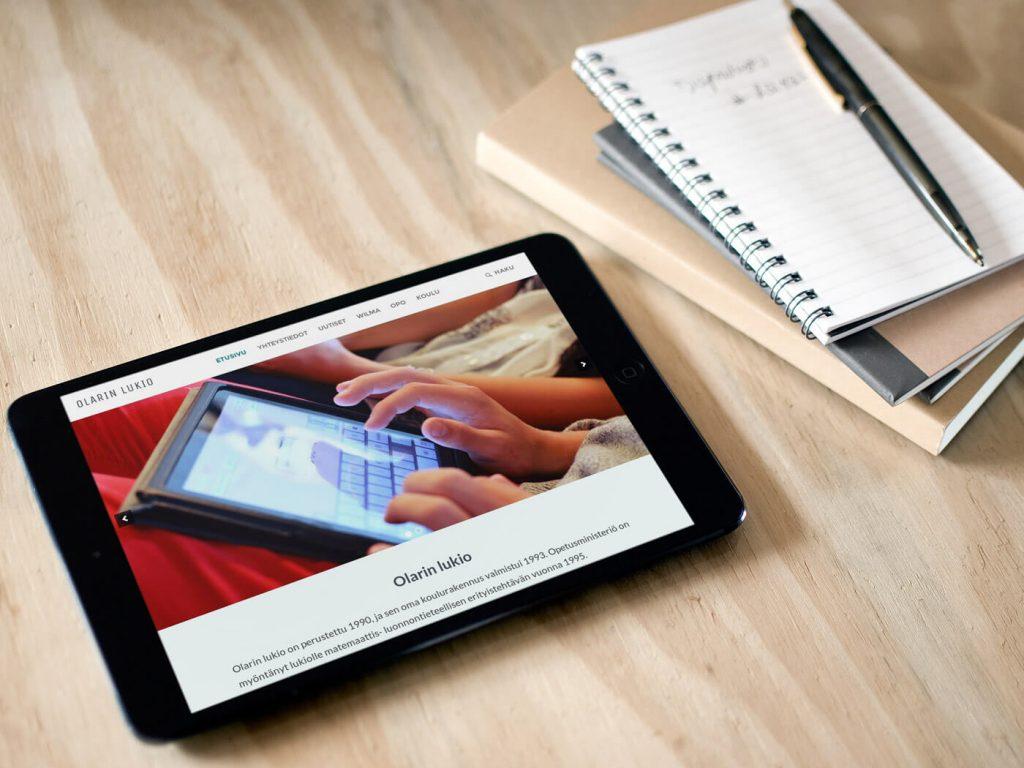 Olarin sivut iPadilla